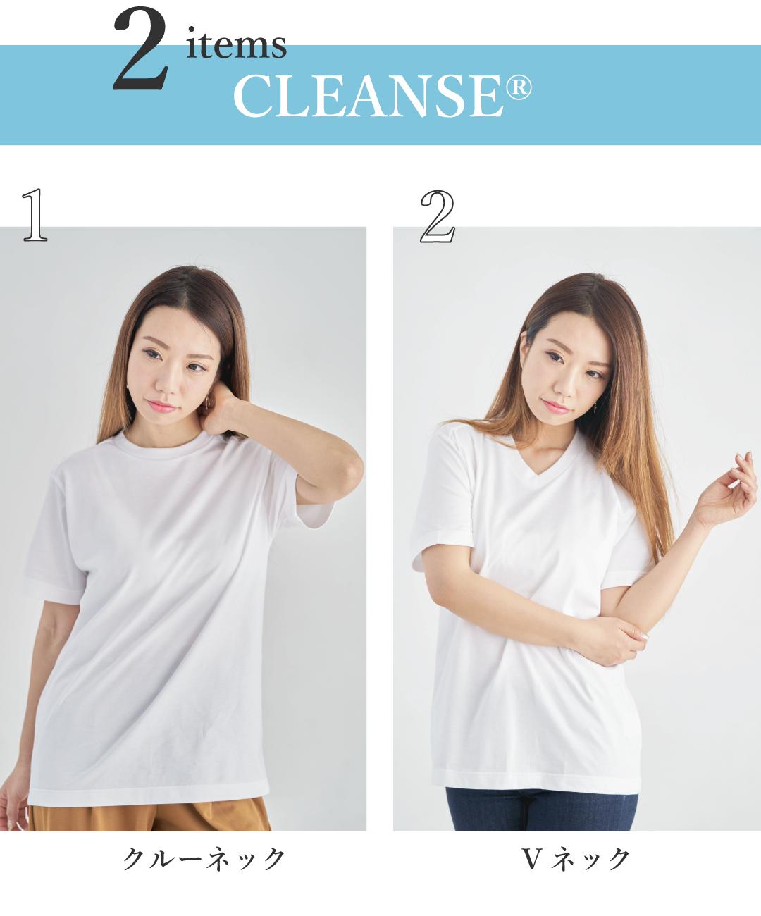 CLEANSE クレンゼ 抗ウイルス 白T Tシャツ レディース